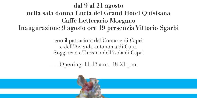locandina della mostra «La sirena di Capri» di Silvana Galeone