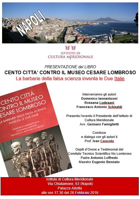 CENTO CITTA' CONTRO IL MUSEO CESARE LOMBROSO @ Napoli | Campania | Italy